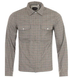 Pretty Green Brushed Check Field Overshirt - Sand