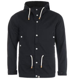 Pretty Green Ridley Washed Cotton Jacket - Black