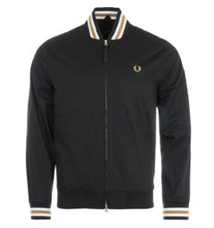 Fred Perry Tennis Bomber Jacket - Black