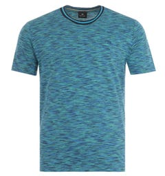 PS Paul Smith Abstract Stripe T-Shirt - Blue