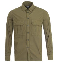 PS Paul Smith Patch Pocket Casual Fit Shirt - Olive