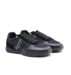 PS Paul Smith Huey Suede and Mesh Trainers - Black