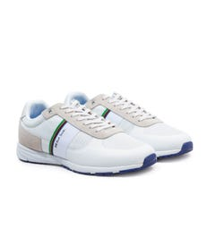 PS Paul Smith Huey Mesh and Suede Trainers - White
