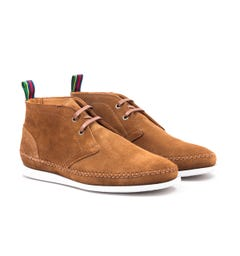 PS Paul Smith Neon Suede Leather Boots - Tan