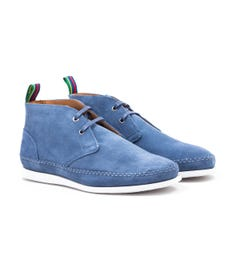 PS Paul Smith Neon Suede Leather Boots - Jean Blue