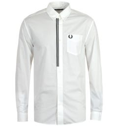 Fred Perry Taped Placket White Shirt