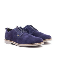 Barbour Raby Suede Derby Shoe - Ink Blue
