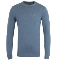 Barbour Pima Cotton Chambray Marl Knit Sweater