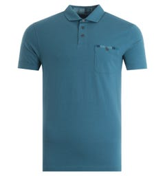 Barbour Corpatch Pocket Polo Shirt - Steel Blue