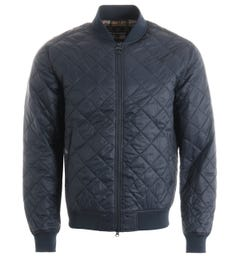Barbour Gabble Quilted Bomber Jacket - Navy