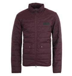 Barbour International Drive Quilted Purple Jacket