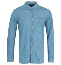 Barbour Chambray Tailored Blue Shirt