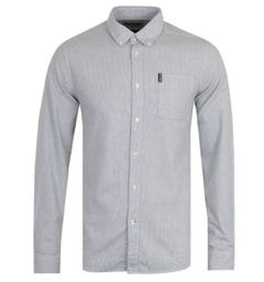 Barbour Houndstooth Tailored White Shirt