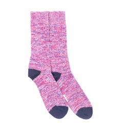 Barbour Colour Twist Socks - Red & Navy