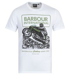 Barbour International Archive Downforce T-Shirt - White