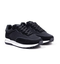 Mallet Caledonian Mesh Trainers - Black Reflect