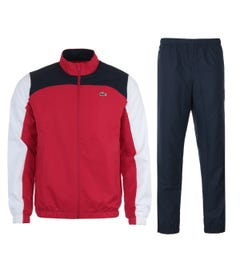 Lacoste Sport Colour Block Tracksuit - Red & Navy